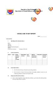 dswd social case study report sample