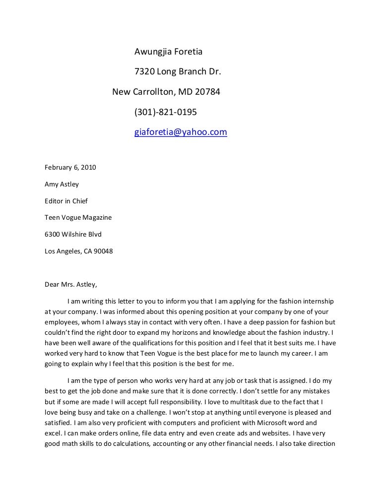 Sample cover letter wikispace for Cover letter for future positions