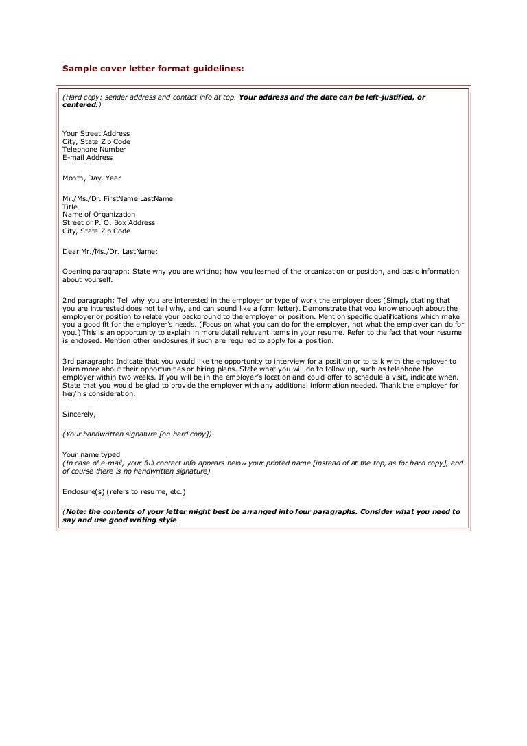 SlideShare  Cover Letter Guidelines