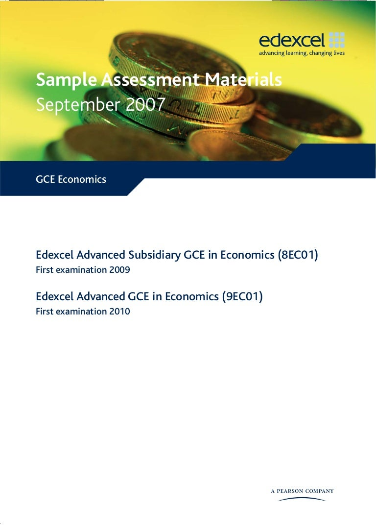 sample economics papers units mark schemes