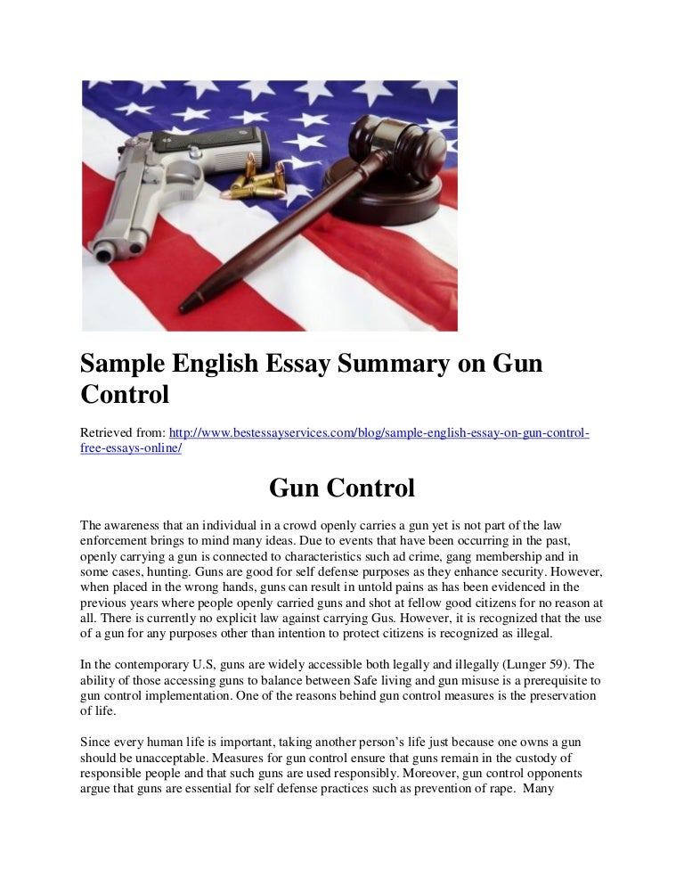 america needs more gun control laws essay Control law laws guns are extremely powerful weapons one of the most controversial issues in our society is gun control legislation violence associated with guns is increasing every year and something must be done to stop it.