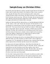 Christianity essay