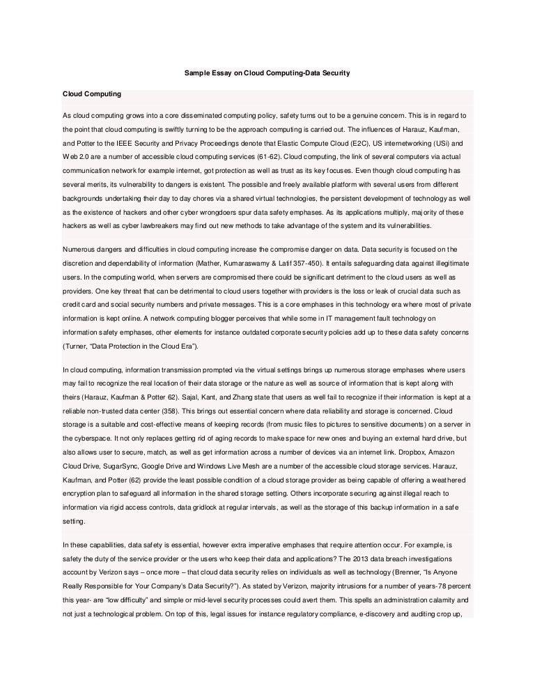 cloud computing essay in english