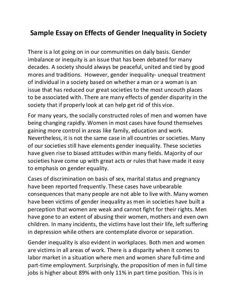 gender equality essay 300 words