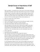 Dissertation on motivation