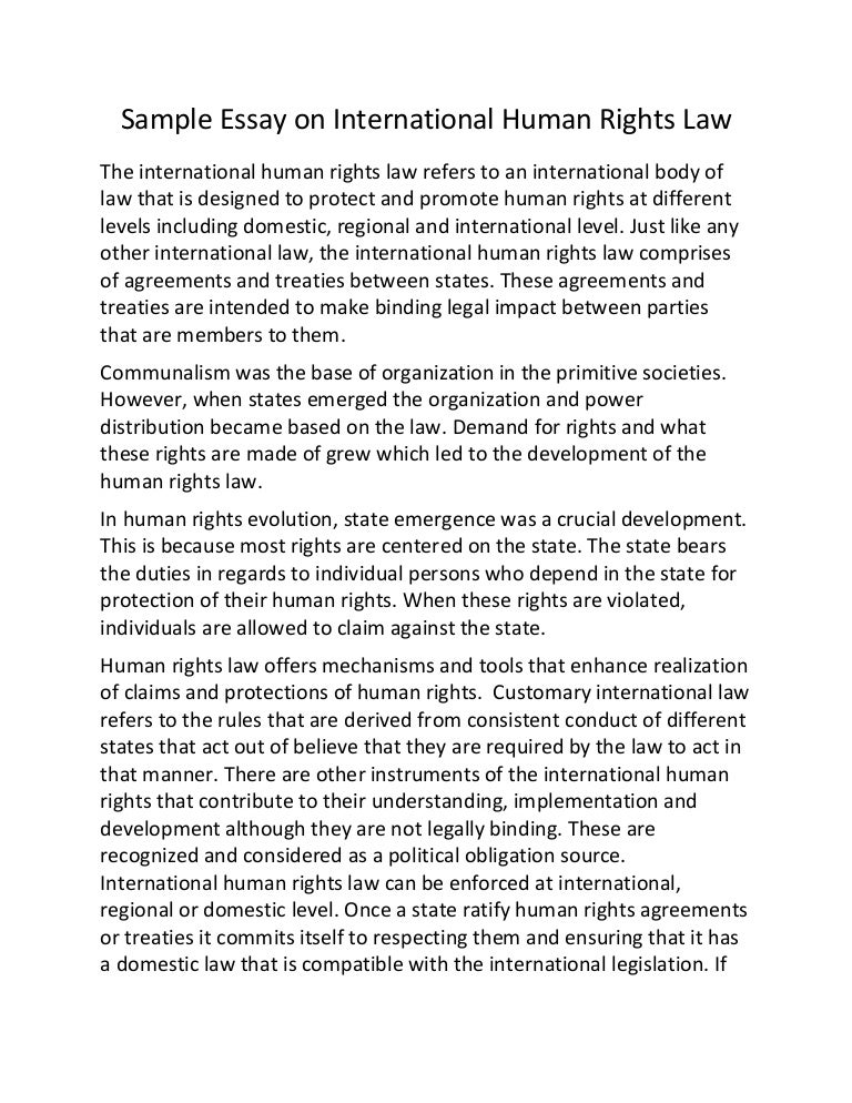 respecting human rights essay Human Rights Essay