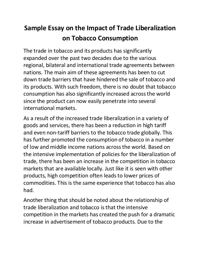 essay on tobacco Essay on