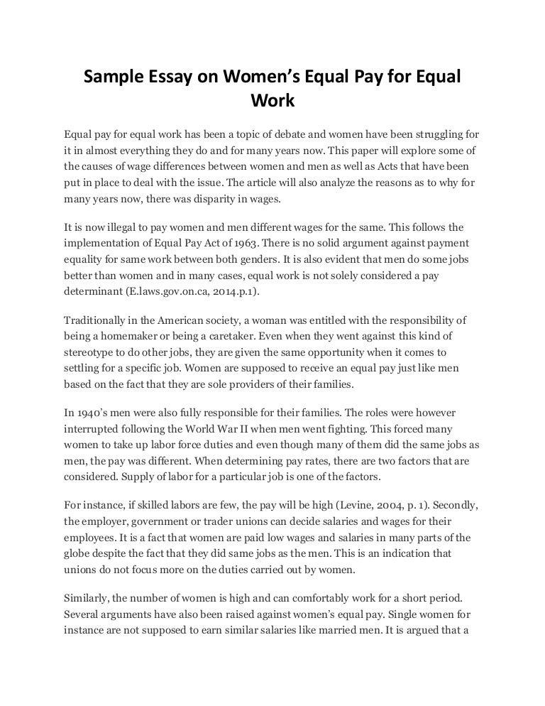 gender pay gap essay
