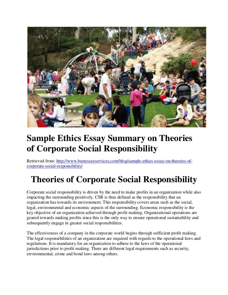 Essay on corporate social responsibility