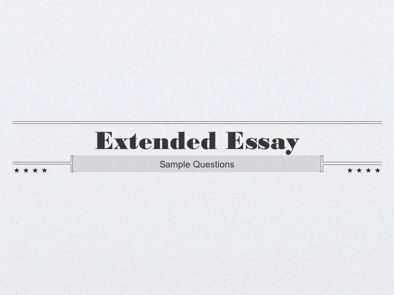 sample extended essay questions
