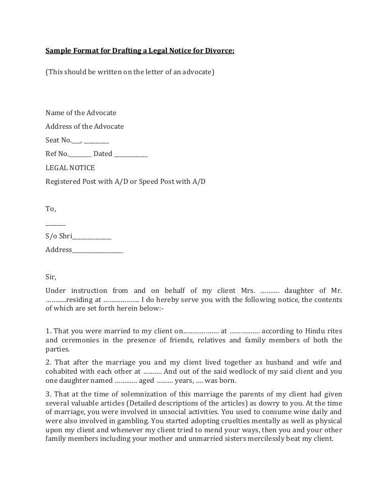 Sample Separation Letter From Spouse from cdn.slidesharecdn.com