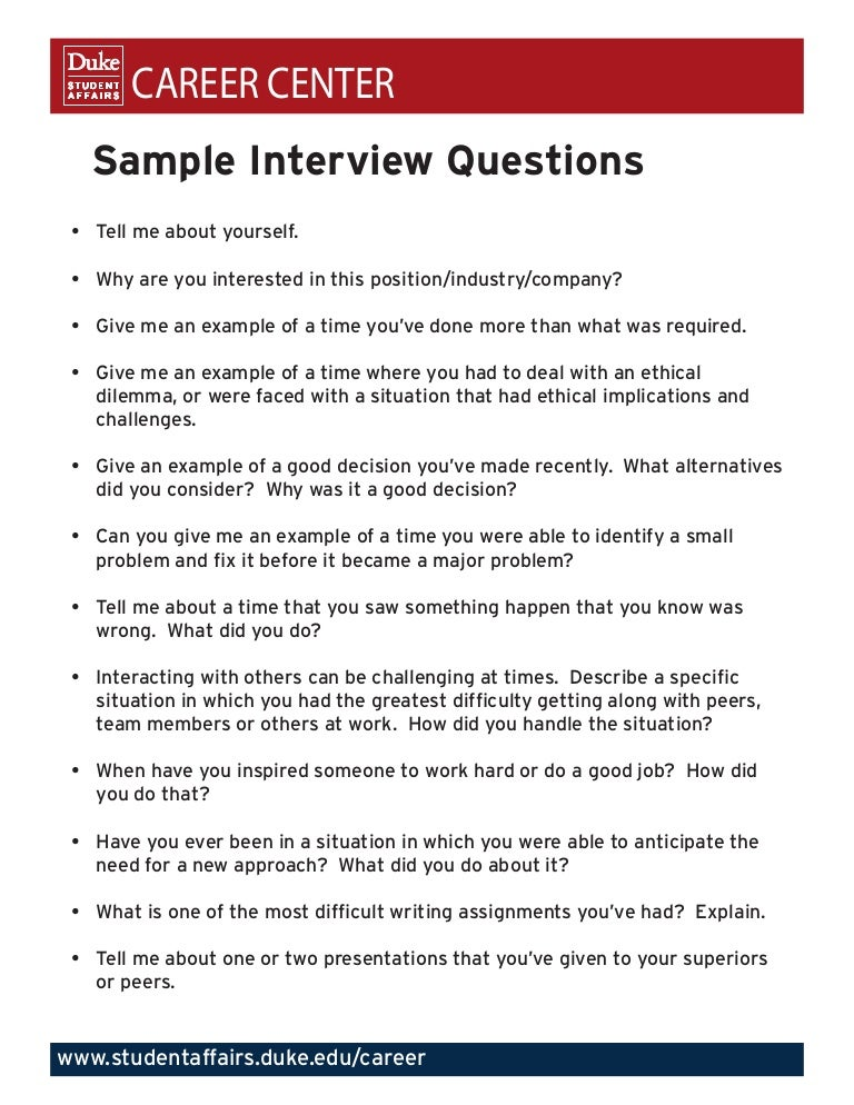 quant job interview questions and answers pdf Here are the top 10 interview questions that are asked at a job interview, examples of the best answers for each question, and tips for responding.