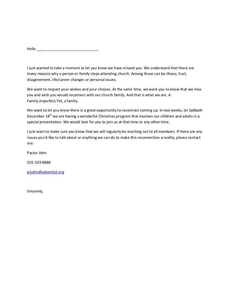 Sample letter for reclaiming members