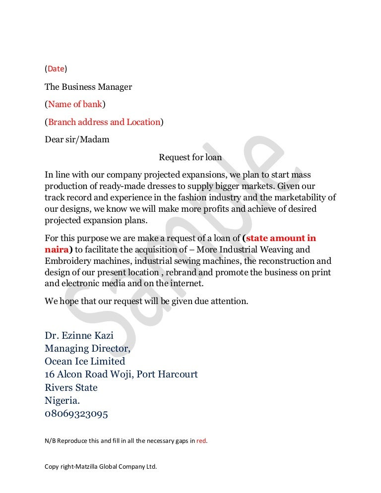 Car Loan Request Letter To Boss