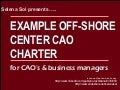 Sample offshore center charter