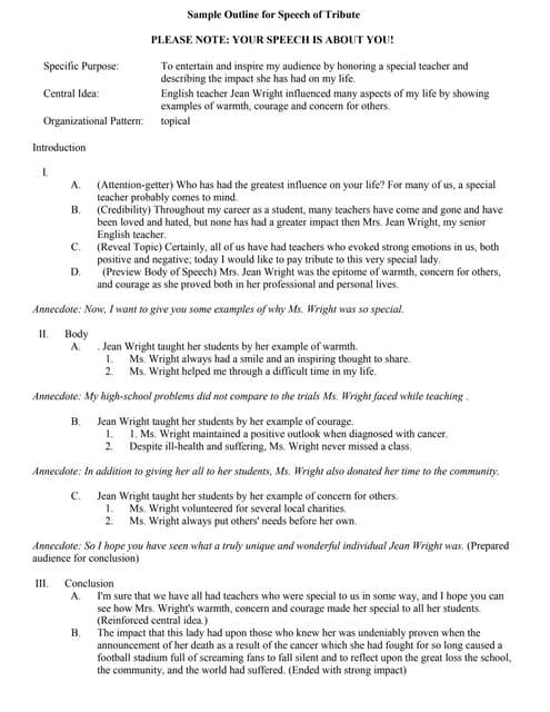 commemorative speech examples pdf
