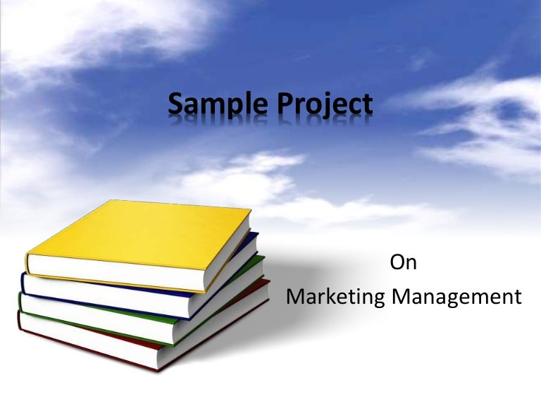 Sample project Marketing Management – Sample Management