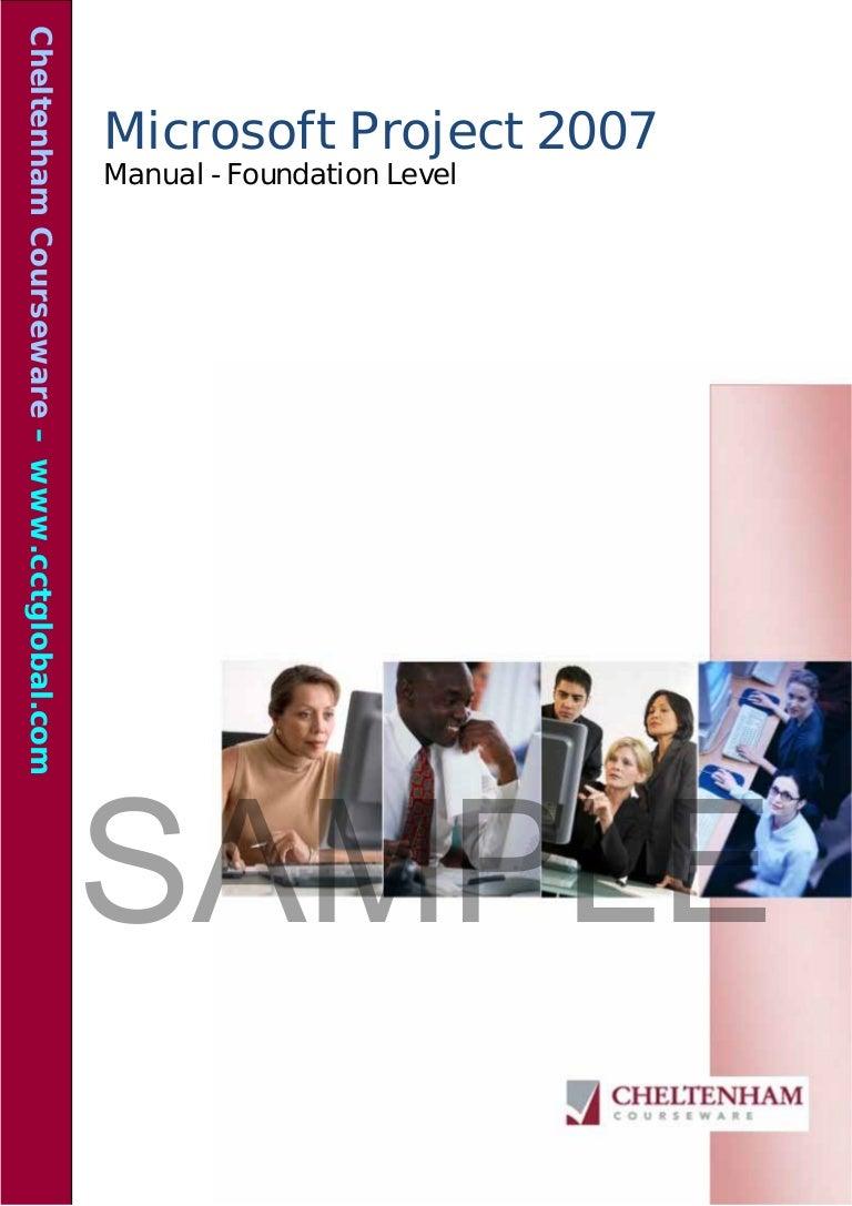 sample project 2007 foundation manual rh slideshare net tutorial microsoft project 2007 manual de microsoft project 2007 pdf