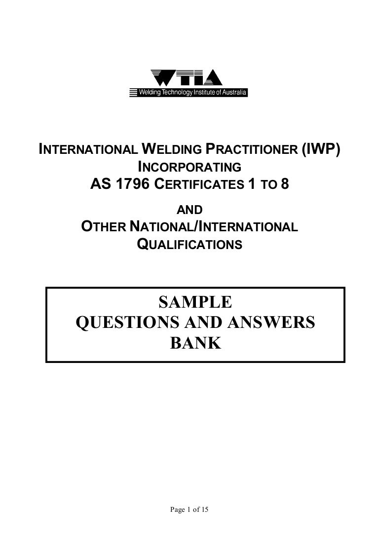 Sample Questions And Answers For Iwp Examinations Welding Phase Diagram
