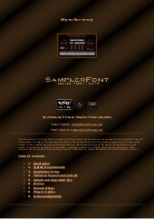 SamplerFont SoundFont Player VST VST3 64 bit for Windows and Audio Unit for Mac. Sampler for SoundFont files in .sf2 format (2.04 compliant)