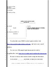 Sample rule 68 offer of judgment in United States District Court
