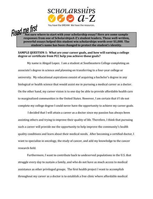 format of a scholarship essay