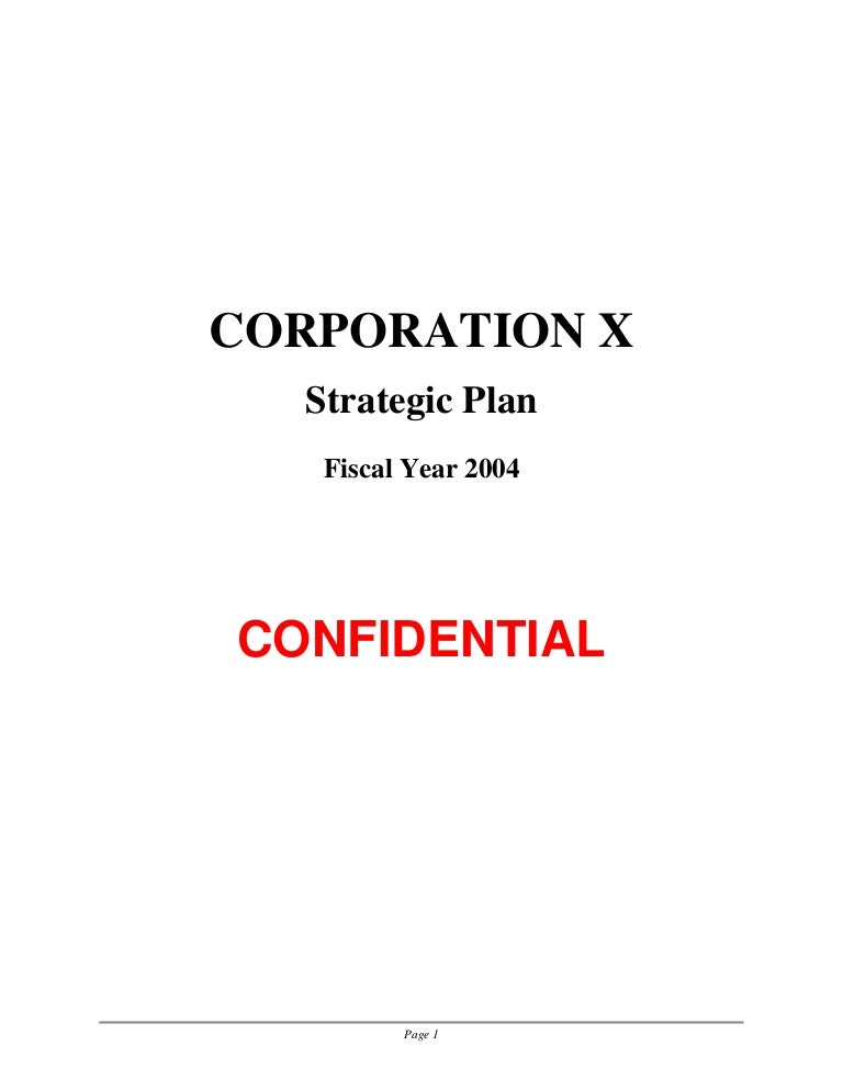 Sample Strategic Plan