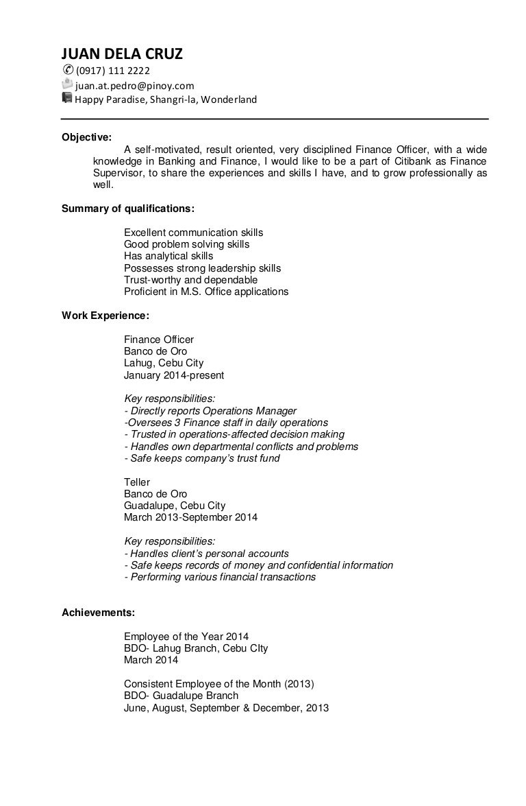 sample targeted resume - Target Resume Samples
