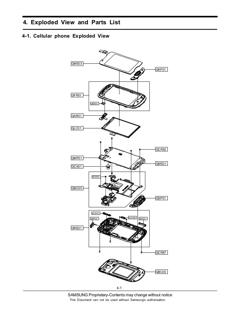 Samsung gt s5570 galaxy mini 04 exploded view and parts list