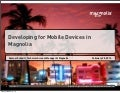 Developing for Mobile Devices in Magnolia