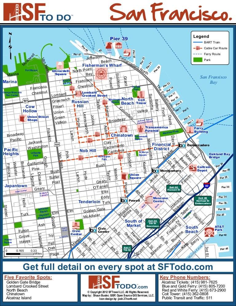 San Francisco Tourist Map Tourism Guide