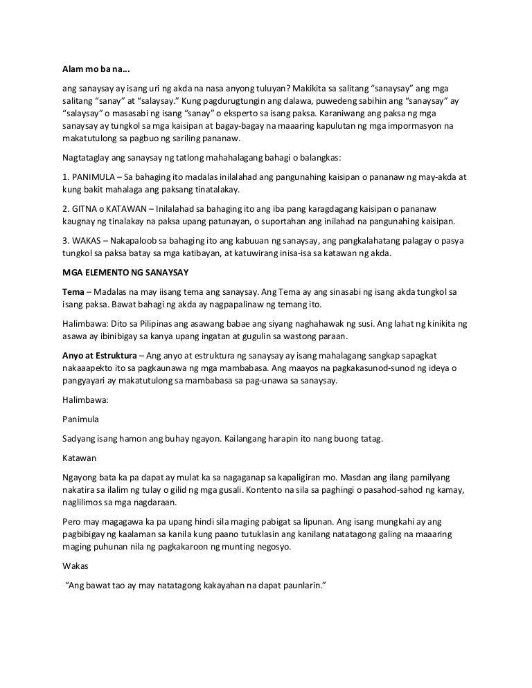 halimbawa ng isang sanaysay Maraming ibig sabihin ang pag-ibig marami rin ang uri nito at isa sa pinakadakilang pag-ibig ay ang pag-ibig ng isang ina sa anak ang ina sa pagdarasal, ang mga dalangin niya ay napakamakapangyarian.
