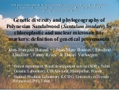 Sandalwood Genetic Diversity