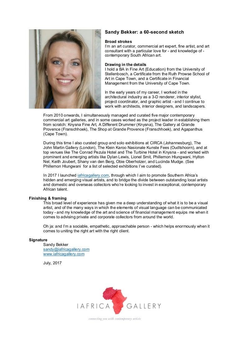 Sandy Bekker Resume
