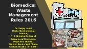Biomedical Waste Management Rules 2016