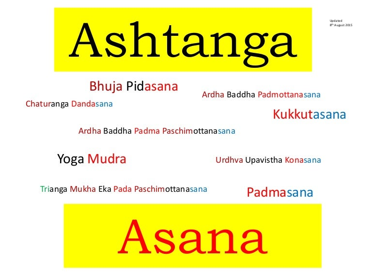 Sanskrit Ashtanga Asana Names Primary Series