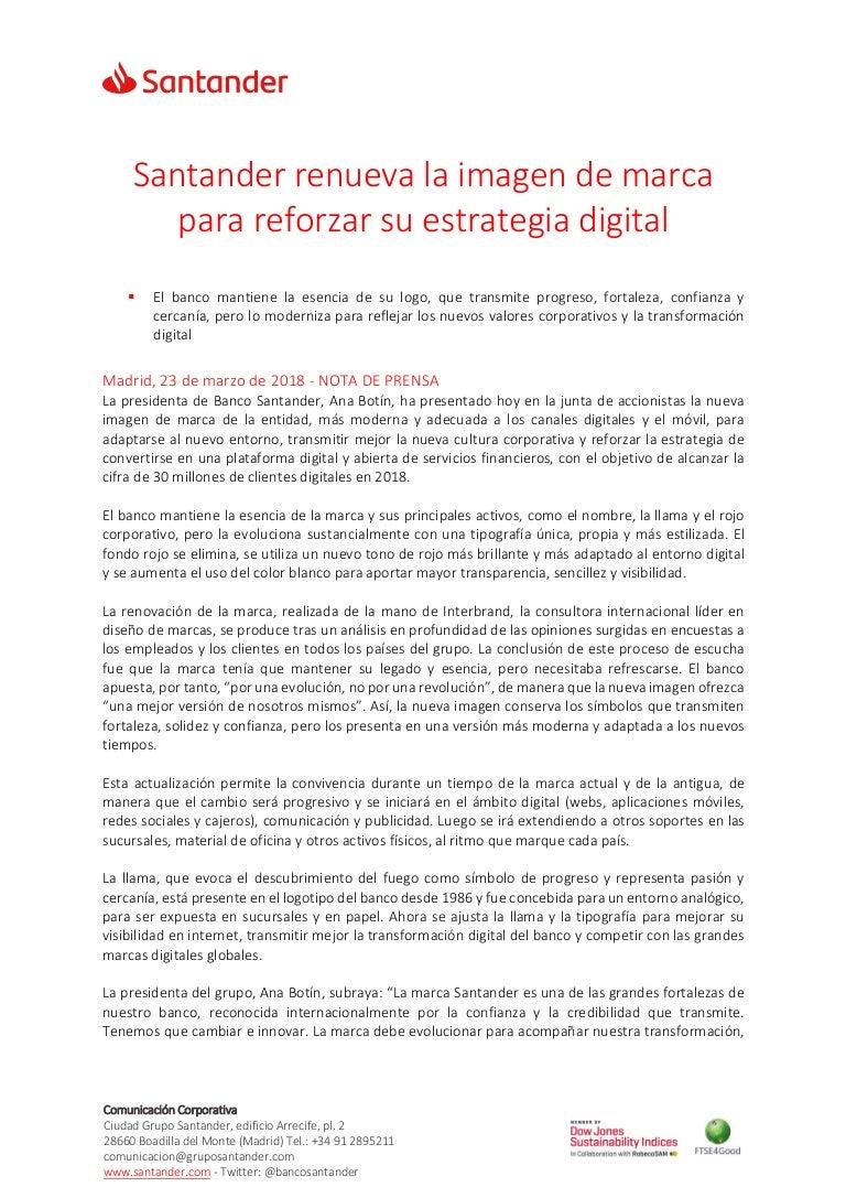 Santander renueva la imagen de marca para reforzar su estrategia digi…
