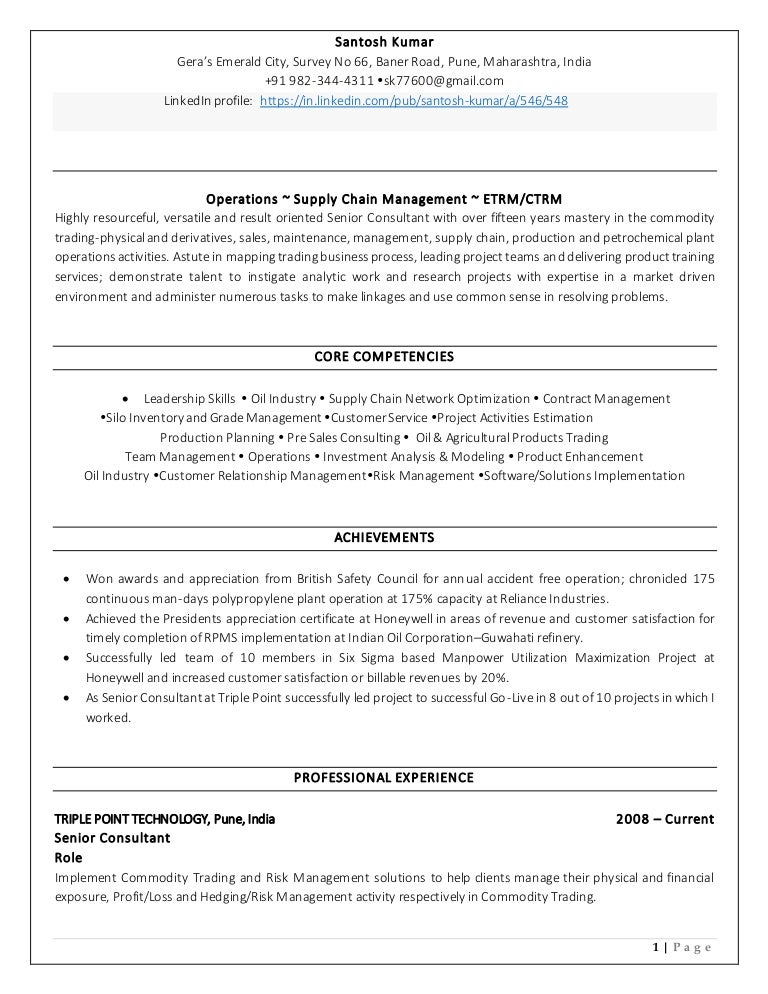 Santosh kumar resume