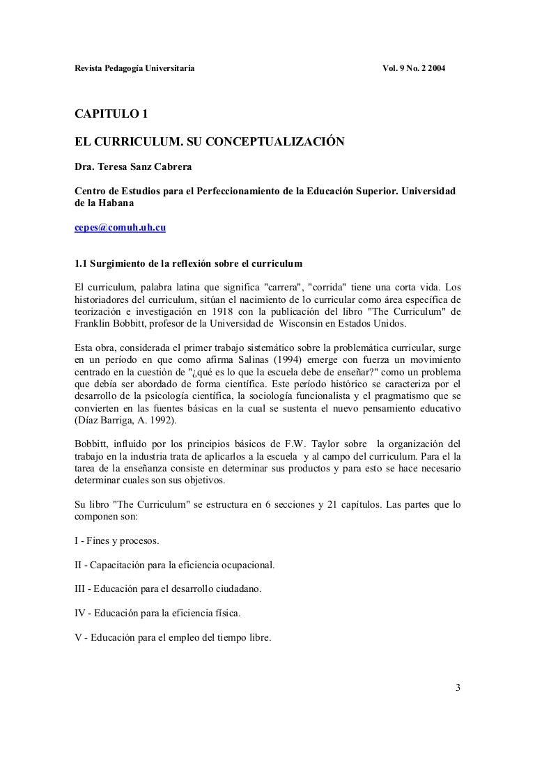 El currículo y su conceptualizacion