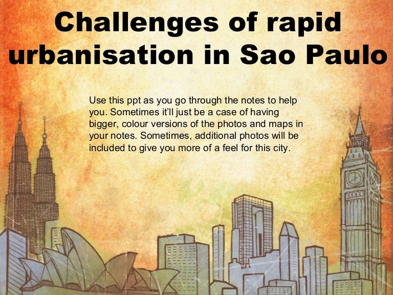 sao paulo challenges of rapid urbanisation