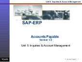 SAP Inquires Account Management | http://sapdocs.info