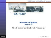 SAP Invoice Credit Note Processing | http://sapdocs.info/