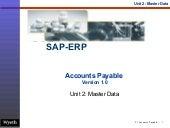 SAP Accounts Payable Master Data | http://sapdocs.info