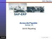 SAP Accounts Payable Reporting | http://sapdocs.info