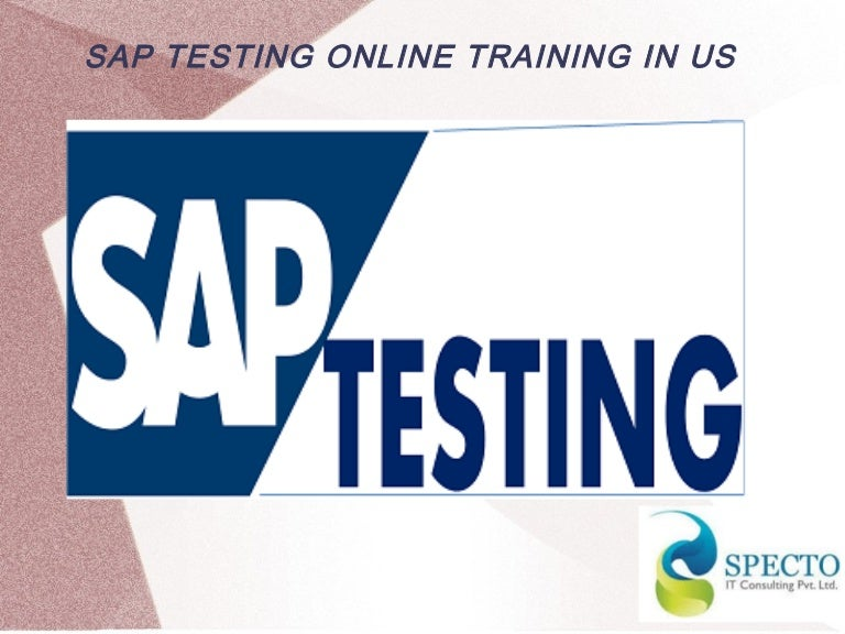 sap testing online training in us