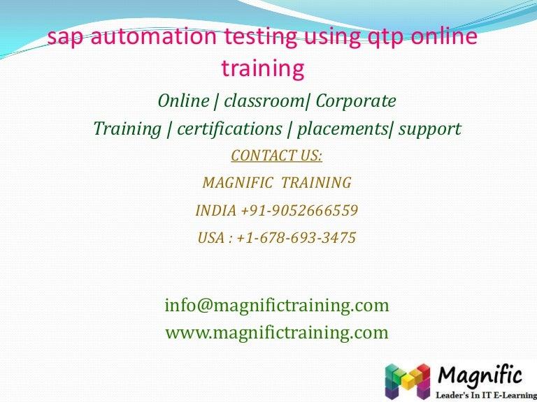 sap automation testing using qtp online training