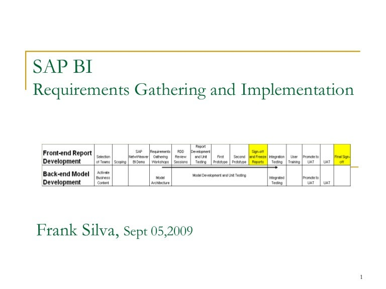 Sap bi requirements gathering process cheaphphosting Image collections