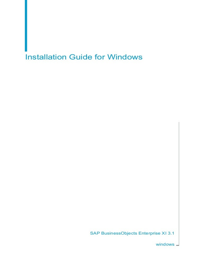 sap businessobjects installation guide rh slideshare net