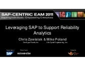 Leveraging SAP to Support Reliability Analytics
