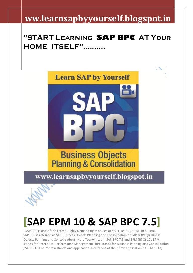SAP EPM 10 Online Training